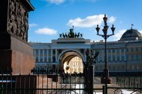 Winter Palace Square, St. Petersburg, Russia.