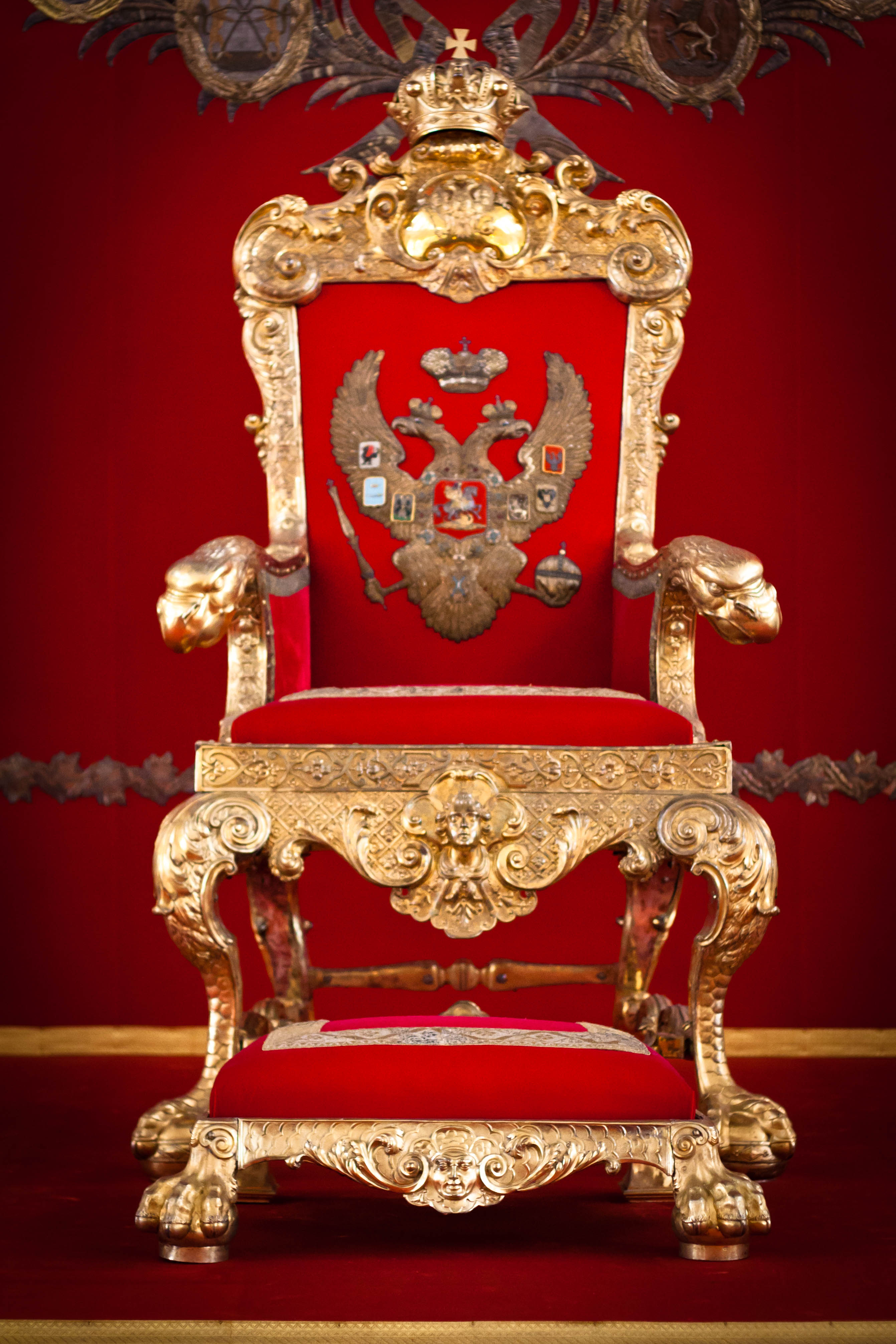 Pics photos king throne chair - Saint George Hall The Throne Room In The Hermitage