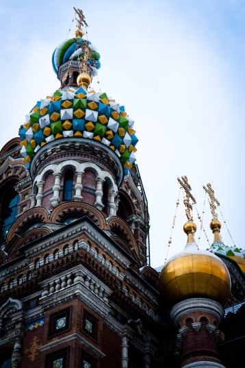 Domed Orthodox church in St. Petersburg, Russia.
