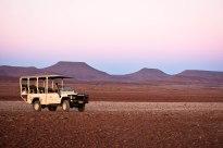 The Namibian desert landscape
