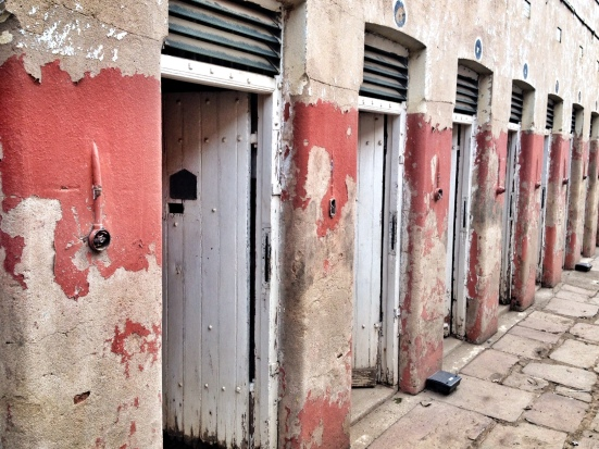 Isolation cells at Johannesburg's Constitution Hill in South Africa.