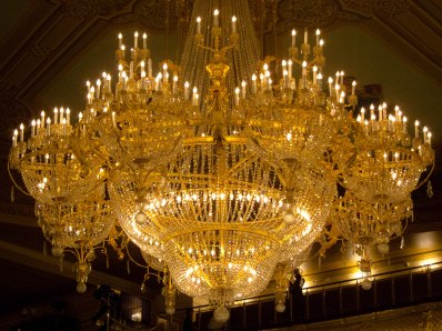 Chandelier at Moscow's Bolshoi Theater
