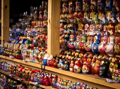 Matryoshka dolls at Izmailovsky Market