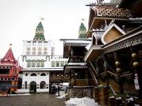 Ornate buildings at Izmailovsky Market