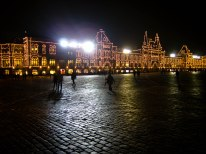Holiday twinkle lights at Red Square in Moscow