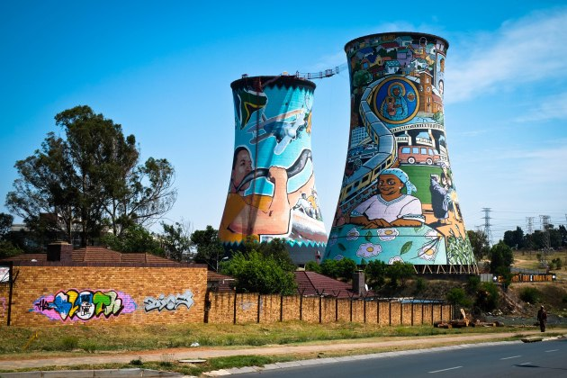 Cooling towers of the Orlando Power Station in Soweto, South Africa