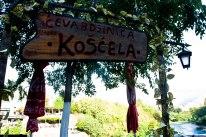 Restaurant sign in Mostar