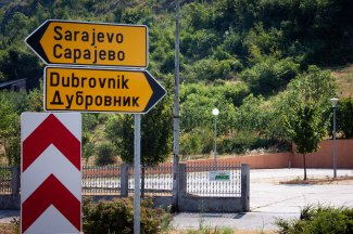 Left to Sarajevo, Bosnia; right to Dubrovnik, Croatia. #Signs