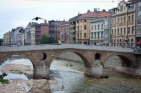 Bridge where Archduke Franz Ferdinand was assassinated in Bosnia.