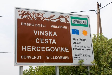 Welcome sign to Bosnia