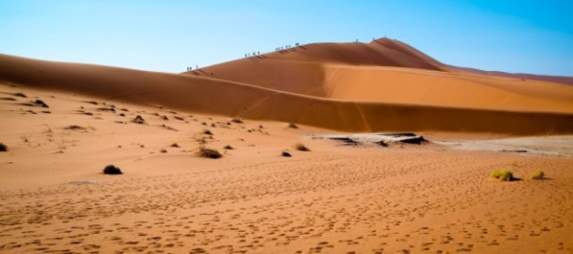 The dunes at Dead Vlei in the Namib Desert, Namibia