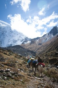 Along the Salcantay route to Machu Picchu, Peruvian Andes