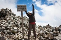 At the summit of Salcantay (4600 M / 15,180 feet)