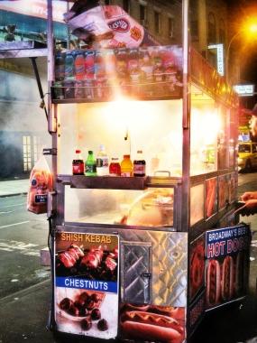 Classic New York street food: 'dogs'