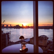 View from the penthouse bar at the Standard hotel in the Meatpacking District