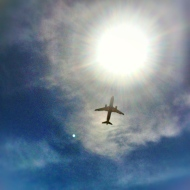 Lay underneath the flight path from Reagan National Airport at Gravelly Point Park in Arlington, VA