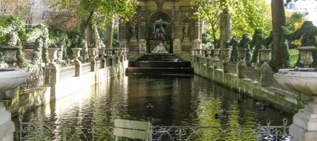 Fontaine Medicis in Jardin de Luxembourg, (Luxembourg Gardens) on the Left Bank in Paris, France.