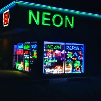 I break for Neon. In Houston, Texas