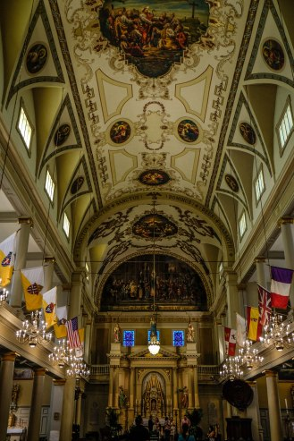 Inside the St. Louis Cathedral in Jackson Square