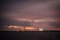 Sunrise at Cape Canaveral Air Force Station just before launch of the Orion spacecraft | photo credit: Jonathan Irish @magnumji on Instagram
