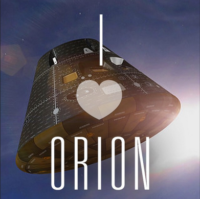 Graphic I created for @exploreNASA on Instagram during launch week to show some love for the Orion spacecraft