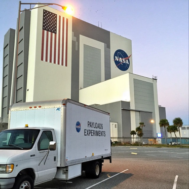 Launch Complex 37 where Orion launched from is on the Air Force side of Kennedy Space Center of Cape Canaveral -- pictured here, the Vertical Assembly Building