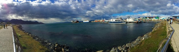 iPhone pano of the Ushuaia Cruise Port