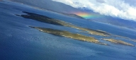 Arriving at the end of the world -- Ushuaia -- I was greeted by a beauitful rainbow