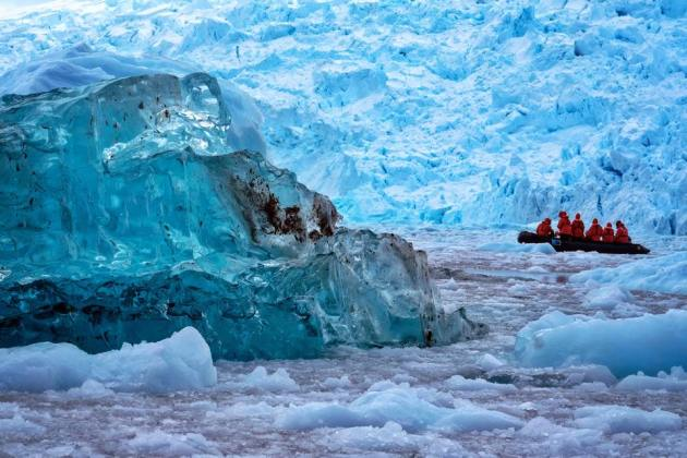 Very old, very blue ice pack in the South Shetland Islands, Antarctic Peninsula