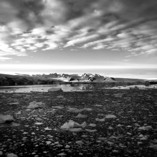 Sometimes Antarctica really calls for a black and white shot