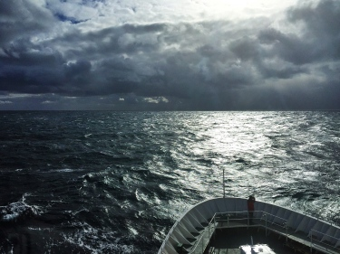 Crossing the stormy Drake Passage -- on a calm day