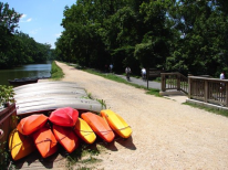 Two pathways along the C&O Canal guide you from the entrance of the towpath in Georgetown to Fletcher's Boathouse in leg two of this multi-sport excursion (Credit: Fletcher's Boat House)
