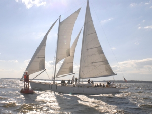 Enjoy the Chesapeake Bay with a two-hour sail on a 74 foot schooner (Credit: Schooner Woodwind)