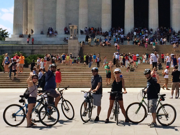 My posse stopped along a self-guided tour for a photo op at Lincoln's Memorial