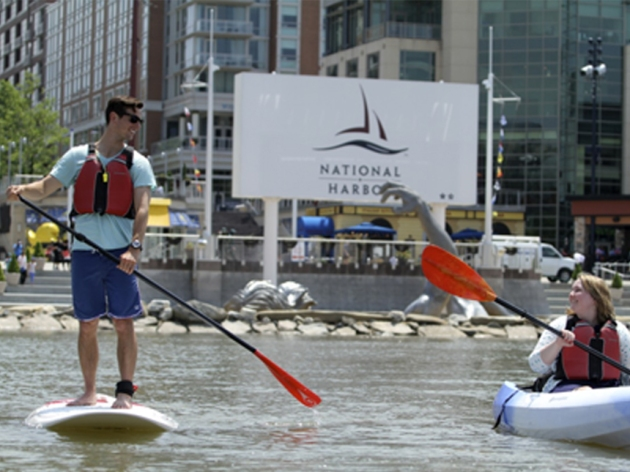 Stand Up Paddle at the National Harbor Waterfront