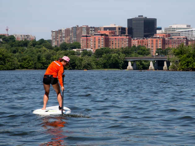 My good pal Elle, showing us how it's done at Boating in DC at the Georgetown Waterfront.