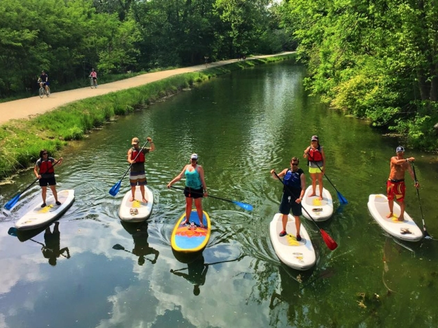 Learn to paddle on the serene C&O Canal (Credit: Potomac Paddlesports)