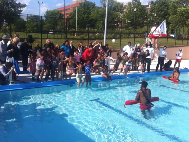Marie Reed Community Center free pool in Adam's Morgan marks the start of the 2015 summer (Credit: DC Parks and Recreation)
