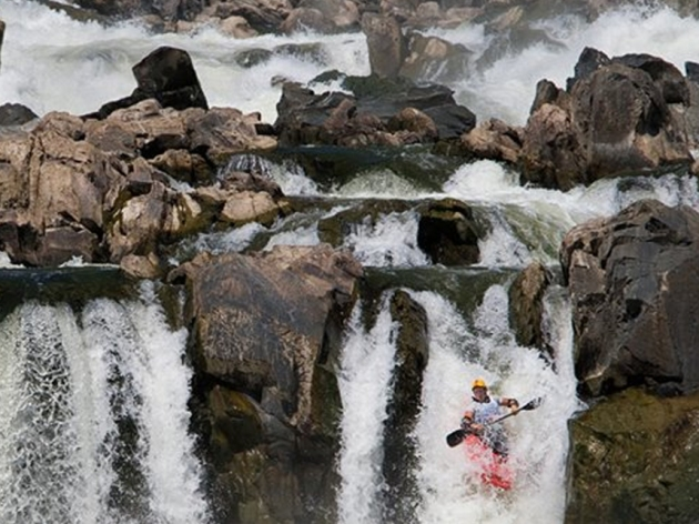 White Water Kayaker on Great Falls in the Potomac River (Potomac Paddle Sports)