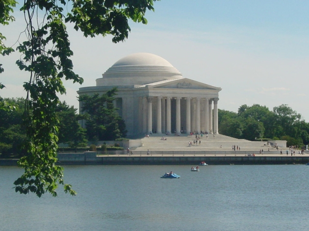 Peddle Boaters among the monuments in DC's Tidal Basin (Credit: Wikimedia Commons)