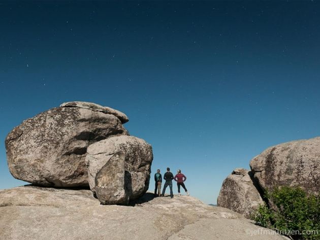 """…I also love a full-moon hike up Old Rag Mountain in the Shenandoah National Park."" (Credit: Jeff Mauritzen)"