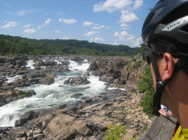 A well-earned break at the Great Falls overlook in Virginia