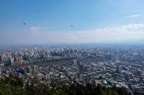 View at the top of Cerro San Cristóbal -- Santiago's favorite tourist destination