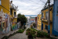 Port view of Valparaíso, Chile