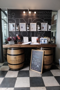 Entrance at Indomita Winery in Casablanca Valley, near Santiago, Chile.