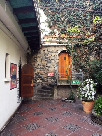 Chilean poet great, Pablo Neruda's house in Santiago, Chile