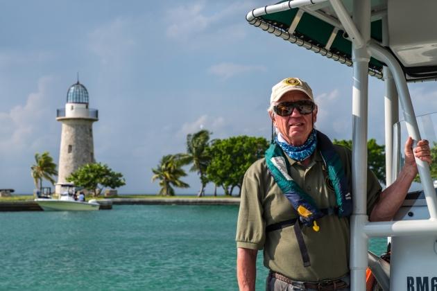 Captain Paul, National Park Service volunteer at Biscayne NP. | Credit: Jonathan Irish