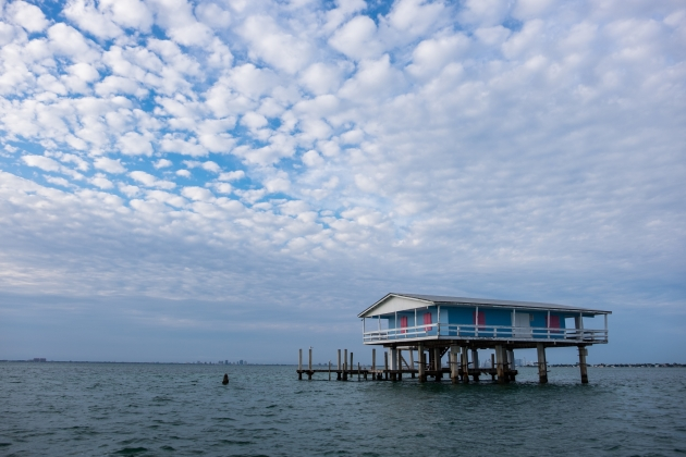 Stiltsville in the late afternoon. | Credit: Jonathan Irish
