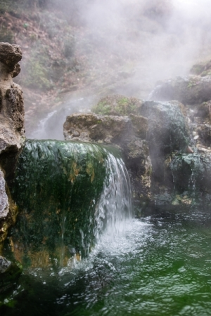"""Valley of the Vapors"" in Hot Springs National Park."