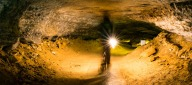 Stefanie hiking in Mammoth Cave National Park. Image credit: Jonathan Irish